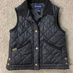 Polo by Ralph Lauren Boys Vest M 10 12 Black